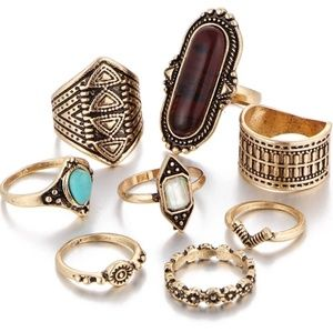 Jewelry - 🌹❤Boho ring set❤💜
